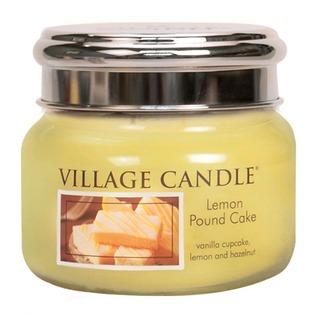 Village Candle Malá vonná sviečka v skle Lemon Pound Cake 262g - Citrónový koláč