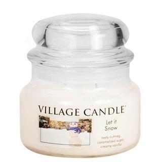 Village Candle Malá vonná sviečka v skle Let it Snow 262g - Snehová nádielka