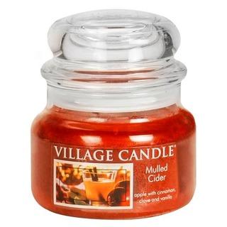 Village Candle Malá vonná sviečka v skle Mulled Cider 262g - zváranie jablkový mušt