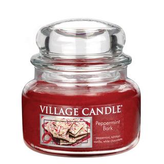 Village Candle Malá vonná sviečka v skle Peppermint Bark 262g - Mätové potešenie