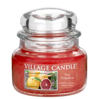 Village Candle Malá vonná sviečka v skle Pink Grapefruit 262g - Ružový grapefruit