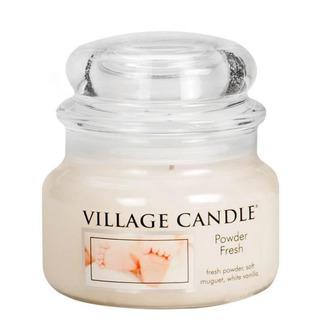 Village Candle Malá vonná sviečka v skle Powder Fresh 262g - Púdrová sviežosť