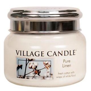 Village Candle Malá vonná sviečka v skle Pure Linen 262g - Čisté bielizeň