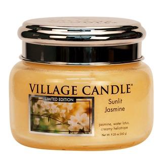 Village Candle Malá vonná sviečka v skle Sunlit Jasmine 262g