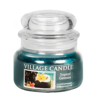 Village Candle Malá vonná sviečka v skle Tropical Getaway 262g - Víkend v trópoch