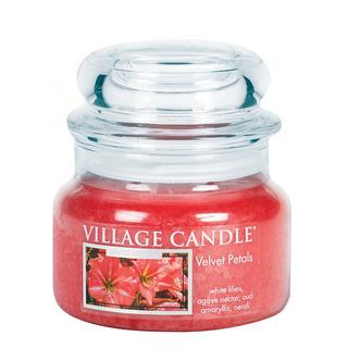 Village Candle Malá vonná sviečka v skle Velvet Petals 262g - Zamatové kvety