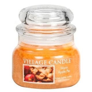 Village Candle Malá vonná sviečka v skle Warm Apple Pie 262g - Jablkový koláč