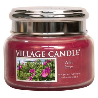 Village Candle Malá vonná sviečka v skle Wild Rose 262g - Divoká ruža