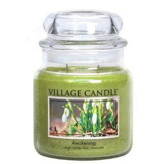 Village Candle Stredná vonná sviečka v skle Awakening 397g - Jarni prebudenie