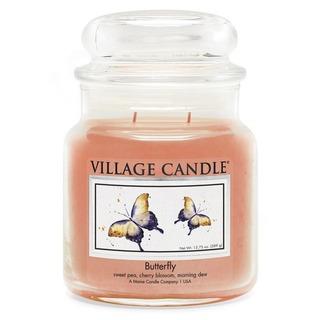 Village Candle Stredná vonná sviečka v skle Butterfly 397g - Motýľ