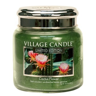 Village Candle Stredná vonná sviečka v skle Cactus Flower 397g