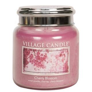 Village Candle Stredná vonná sviečka v skle Cherry Blossom 397g - Čerešňový kvet