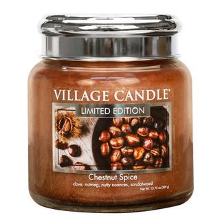 Stredná vonná sviečka v skle Chestnut Spice 397g - Pečené gaštany
