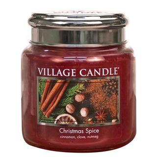 Village Candle Stredná vonná sviečka v skle Christmas Spice 397g - Vianočné korenia