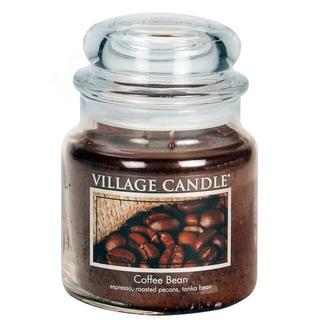 Village Candle Stredná vonná sviečka v skle Coffee Bean 397g - Zrnková káva