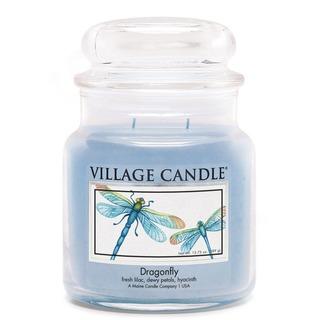 Village Candle Stredná vonná sviečka v skle Dragonfly 397g - Vážka