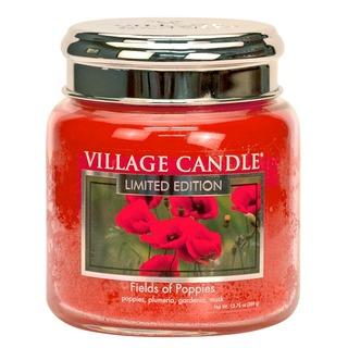 Village Candle Stredná vonná sviečka v skle Fields of poppies 397g