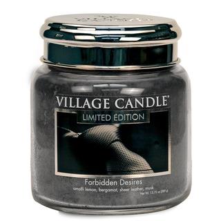 Village Candle Stredná vonná sviečka v skle Forbidden Desires 397g