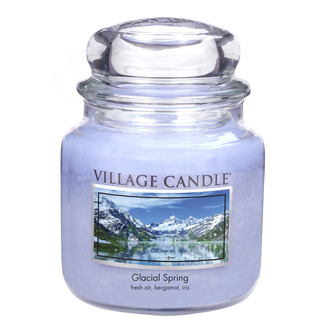 Village Candle Stredná vonná sviečka v skle Ľadovcový vánok 397g - Glacial Spring