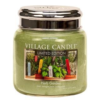 Village Candle Stredná vonná sviečka v skle Herb Garden 397g
