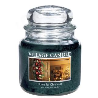 Village Candle Stredná vonná sviečka v skle Home for Christmas 397g - Čaro Vianoc