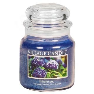 Village Candle Stredná vonná sviečka v skle Hydrangea 397g - Hortenzie