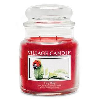 Village Candle Stredná vonná sviečka v skle Lady Bug 397g - Lienka