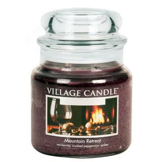 Village Candle Stredná vonná sviečka v skle Mountain Retreat 397g - Víkend na horách