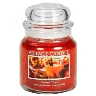 Village Candle Stredná vonná sviečka v skle Mulled Cider 397g - zváranie jablkový mušt