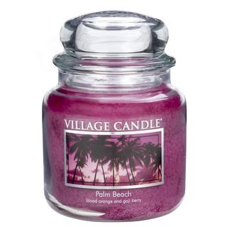 Village Candle Stredná vonná sviečka v skle Palm Beach 397g - Palmová pláž
