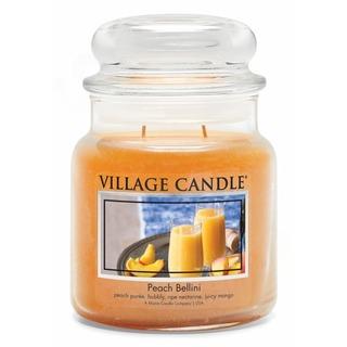 Village Candle Stredná vonná sviečka v skle Peach Bellini 397g - Broskyňové Bellini