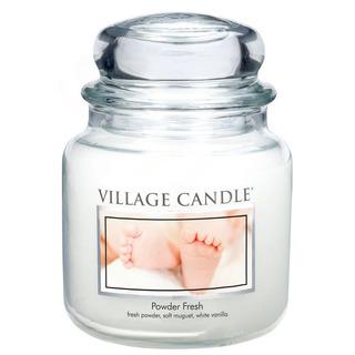 Village Candle Stredná vonná sviečka v skle Powder Fresh 397g - Púdrová sviežosť