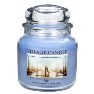 Village Candle Stredná vonná sviečka v skle Rain 397g - Dážď