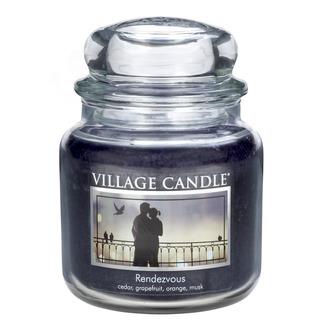 Village Candle Stredná vonná sviečka v skle Rendezvous 397g - Rande