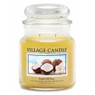 Village Candle Stredná vonná sviečka v skle Soleil All Day 397g - Deň na pláži
