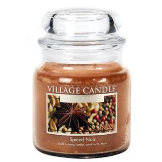 Village Candle Stredná vonná sviečka v skle Spiced Noir 397g - Korenie života