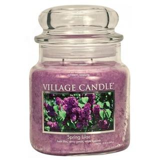 Village Candle Stredná vonná sviečka v skle Spring Lilac 397g - Jarná orgován
