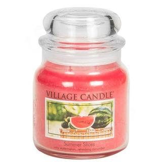 Village Candle Stredná vonná sviečka v skle Summer Slices 397g - Letný pohoda