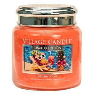 Village Candle Stredná vonná sviečka v skle Summer Vibes 397g
