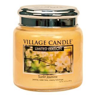 Village Candle Stredná vonná sviečka v skle Sunlit Jasmine 397g