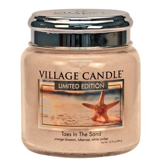 Village Candle Stredná vonná sviečka v skle Toes In The Sand 397g