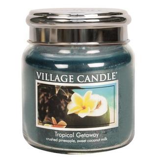 Village Candle Stredná vonná sviečka v skle Tropical Getaway 397g - Víkend v trópoch