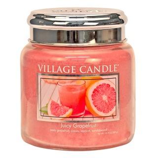 Village Candle Stredná vonná sviečka v skle Juicy Grapefruit 397g