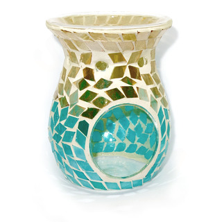 Village Candle Aromalampa Gold & amp; Turquoise