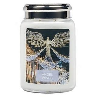 Village Candle Veľká vonná sviečka v skle Angel Wings 645g - Anjelské krídla