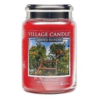 Village Candle Veľká vonná sviečka v skle Apple Wood 645g - Jabloňové drevo