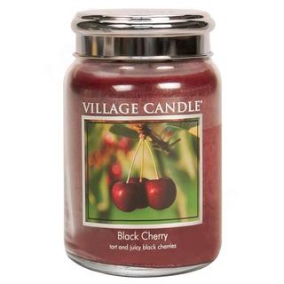 Village Candle Veľká vonná sviečka v skle Black Cherry 645g - Čierna čerešňa