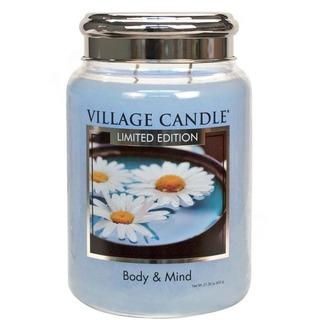 Village Candle Veľká vonná sviečka v skle Body and Mind 645g