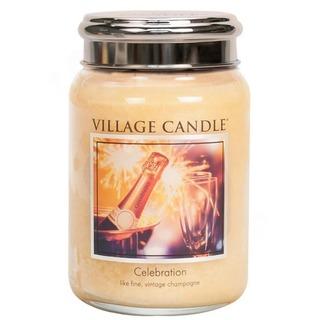 Village Candle Veľká vonná sviečka v skle Celebration 645g - Oslava