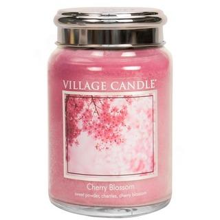 Village Candle Veľká vonná sviečka v skle Cherry Blossom 645g - Čerešňový kvet